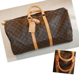 Louis Vuitton Keepall 55 Monogram Duffle Bag, Mint